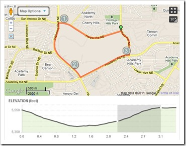 photo courtesy of mapmyrun.com