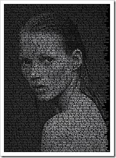 Ralph Ueltzhoeffer - Textportrait: Kate Moss, 2012